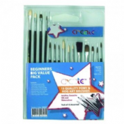 Create Beginners Paint Brush Set, Big Value 15 Pack
